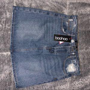 Boohoo Skirts - boohoo denim skirt